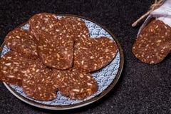 Десерт Салями шоколада стоковые изображения rf