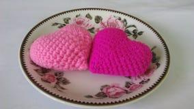 Десерт 2 сердец Стоковое Фото