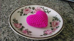Десерт сердца Стоковое Изображение