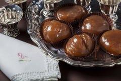 Десерт сладостных каштанов Стоковая Фотография