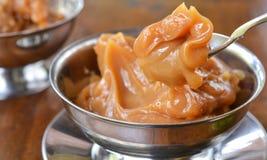 Десерт сливк карамельки (doce de leite) Стоковые Изображения RF