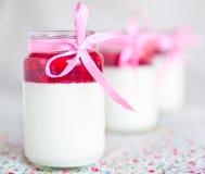 Десерт с клубниками Стоковое Изображение