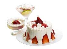 Десерт с клубникой Стоковое Изображение