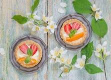 Десерт с ягодами Стоковые Изображения RF