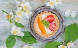 Десерт с ягодами Стоковое Изображение