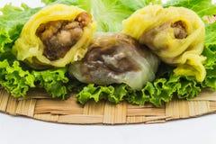 Десерт Таиланда с салатом и basketwork изолировал предпосылку Стоковое Изображение