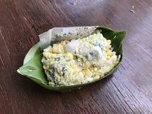 десерт тайский Слойка фасоли Mung Стоковое Изображение