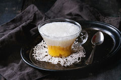 Десерт тапиоки с манго Стоковые Изображения RF