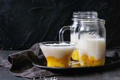 Десерт тапиоки с манго Стоковое Фото