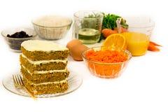 Десерт торта моркови Стоковое Фото