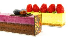 десерт торта обедая причудливый штраф Стоковые Изображения