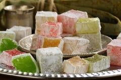 Десерт турецкого наслаждения (lokum rahat) Стоковые Фото