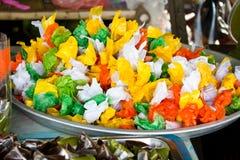 Десерт цветастой конфеты тайский Стоковая Фотография