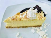 Десерт чизкейка Нью-Йорка Стоковая Фотография RF