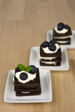 Десерт шоколада с взбитой сливк Стоковая Фотография RF
