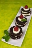 Десерт шоколада с взбитой сливк Стоковые Изображения RF