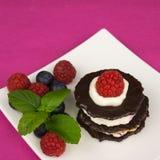 Десерт шоколада с взбитой сливк Стоковое Изображение