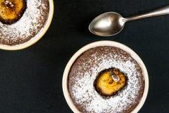 Десерт шоколада с грушами Стоковые Изображения RF