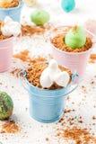 Десерт шоколада для пасхи Стоковое фото RF