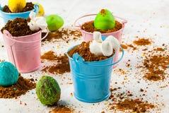 Десерт шоколада для пасхи Стоковая Фотография RF