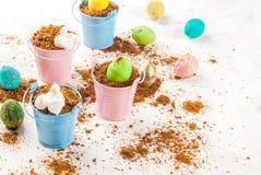 Десерт шоколада для пасхи Стоковые Изображения