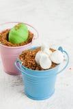 Десерт шоколада для пасхи Стоковое Изображение