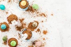 Десерт шоколада для пасхи Стоковые Фотографии RF