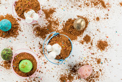 Десерт шоколада для пасхи Стоковые Фото