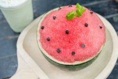 Десерт bingsu арбуза Стоковые Фото