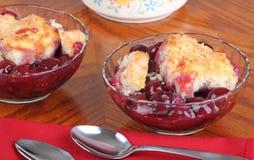 десерт cobbler вишни Стоковые Изображения