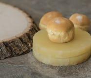 Десерт Cream слойки ананаса стоковые фото