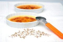 Десерт flan карамельки 2 Стоковые Фото