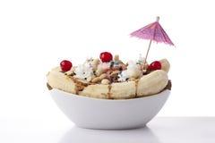 Десерт sundae разделения банана Стоковая Фотография