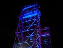 Детализированный взгляд стального вертикального моста подъема в Waddinxveen, Нидерланд стоковые изображения