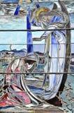 детализирует окно запятнанное стеклом Стоковое Изображение