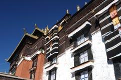 детализирует тибетца lamasery стоковое изображение