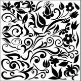 детализирует флористический комплект Стоковые Изображения