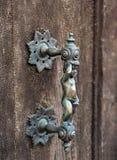 детализируйте дверь историческую Стоковые Фото