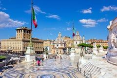 Детали алтара отечества или Vittoriano и аркады Venezia стоковые фотографии rf