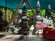 Детали виска Phnom Kulen стоковые фотографии rf