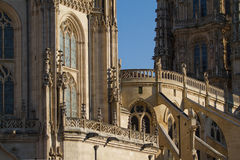 Детали главным образом фасада собора Бургоса. Испания Стоковое фото RF