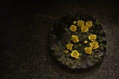 Детали декоративной плиты на стене Стоковое Изображение RF