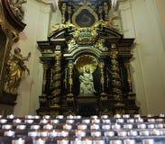 Детали интерьера католической церкви Стоковая Фотография