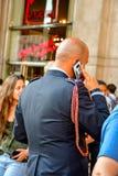 Детали Италии Красивый полицейский стоковая фотография