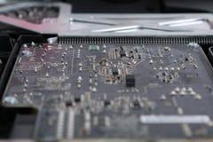 Детали и доски внутри демонтированного компьютера monoblock Стоковое Изображение