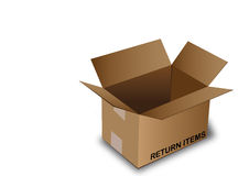 детали коробки раскрывают возвращение Стоковые Фотографии RF