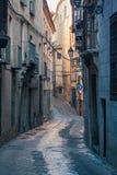 Детали красивых улиц и фасадов города Toledo, Испании стоковое фото rf