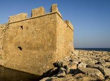 Детали крепостной стены замка Paphos Стоковая Фотография RF