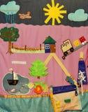 Детали мягкой творческой циновки для развития ребенка Стоковые Фото