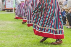 Детали национального костюма Эстонии стоковое фото rf